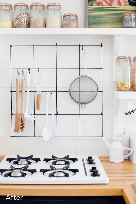 how to turn wire mesh rebar into a clever kitchen item diy rh pinterest com