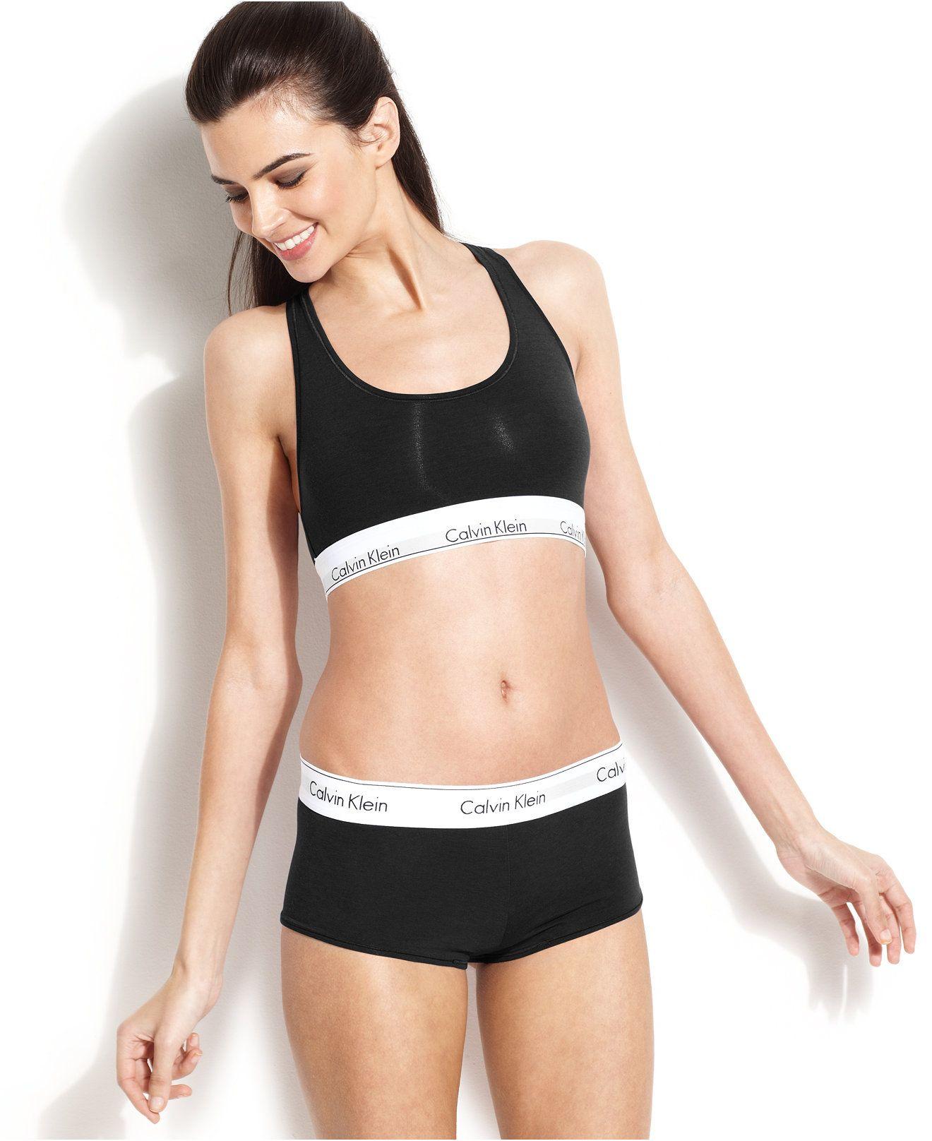 Calvin Klein Modern Cotton Logo Bralette F3785 - Bras, Panties ...