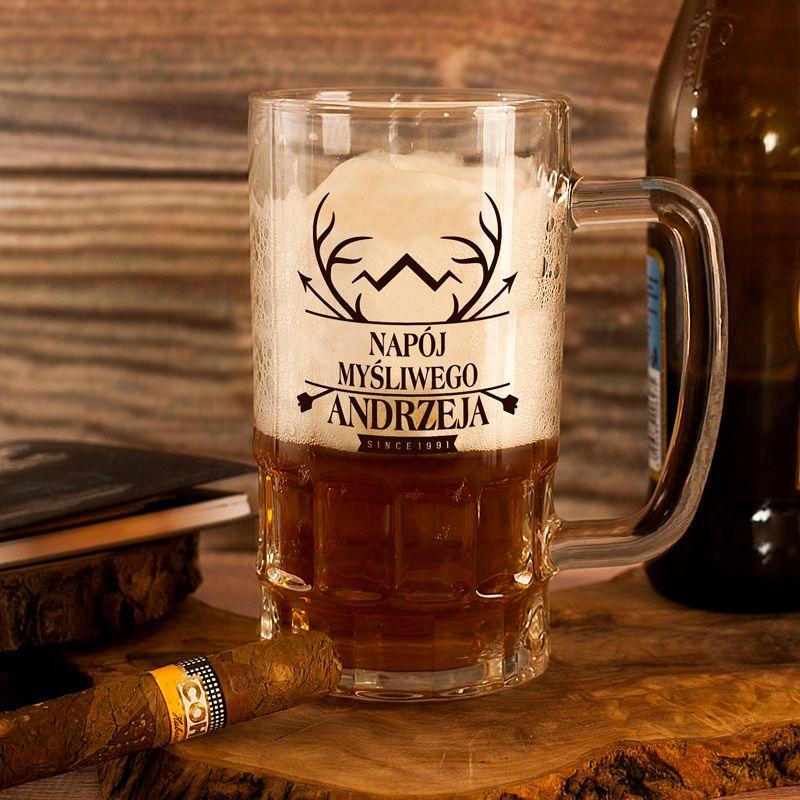 Kufel Do Piwa Napoj Mysliwego Personalizowany Beer Mug Beer Beer Glasses