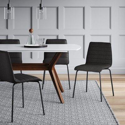 salk modern quilted dining chair dark gray project 62 dark gray rh in pinterest com