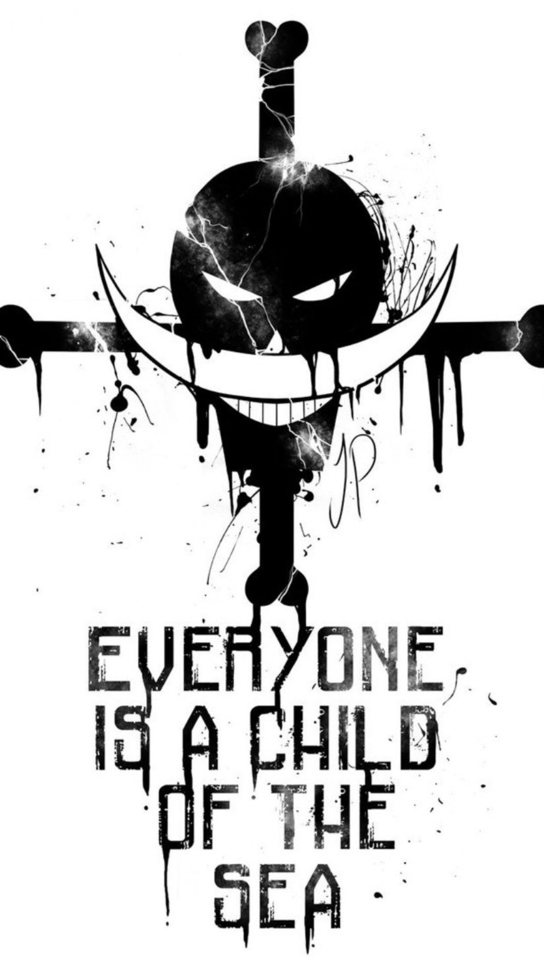 Whitebeard Everyone Is A Child Of The Sea Wallpaper One Piece
