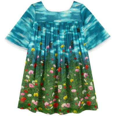 0ae081536242 Gucci - Printed cotton voile dress - 209532