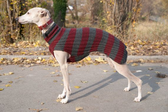 Whippet Sweater / Striped / dark red and gray von GoodWitKnit, €79,00