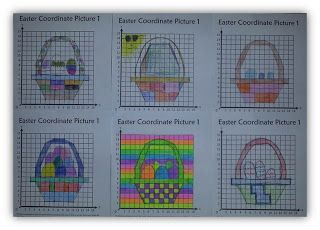 UPDATE - FREEBIE Easter Co-ordinate, Graphing, Ordered Pairs Pictures