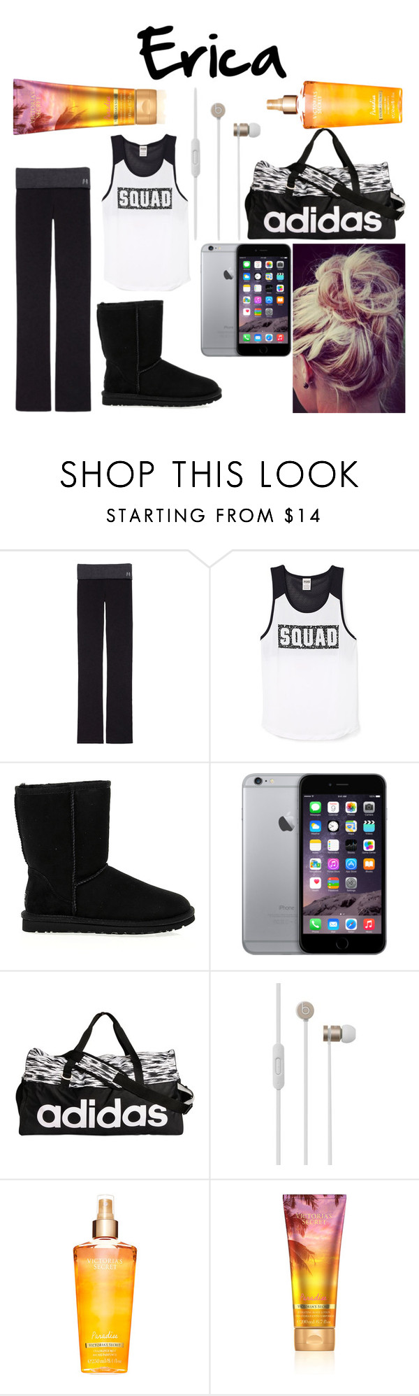 """""""Untitled #2292"""" by cakeboossmafiaa ❤ liked on Polyvore featuring Victoria's Secret, UGG Australia, adidas and Beats by Dr. Dre"""