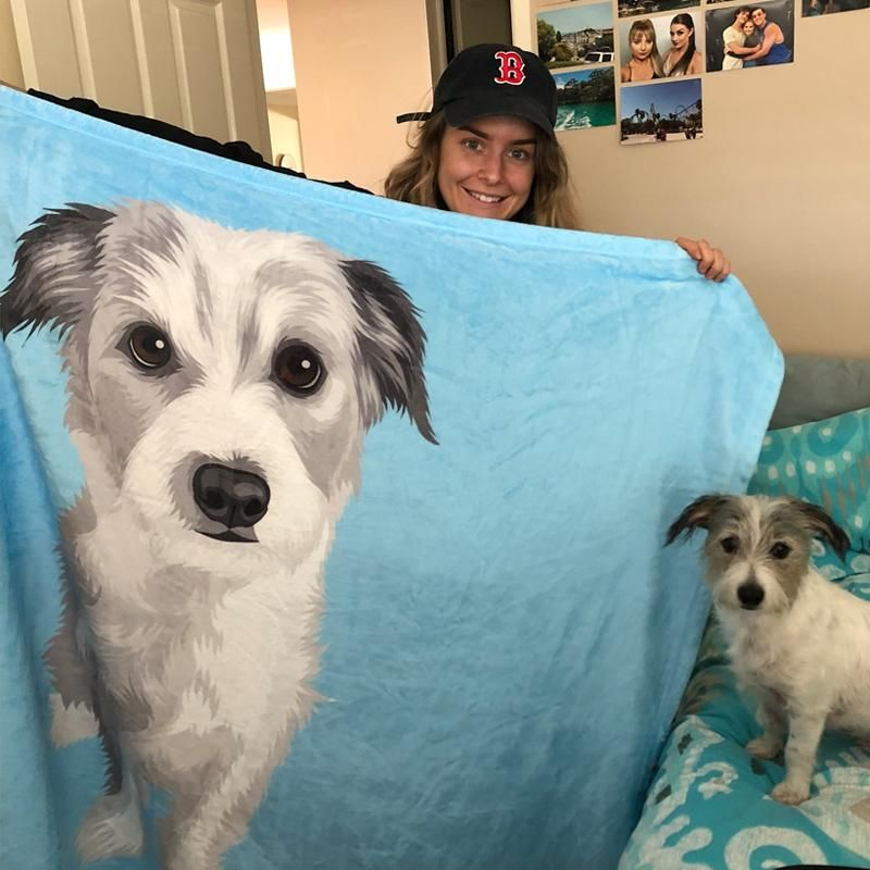 Custom Pet Fleece Blanket Dog Blanket Pets Low Maintenance Pets