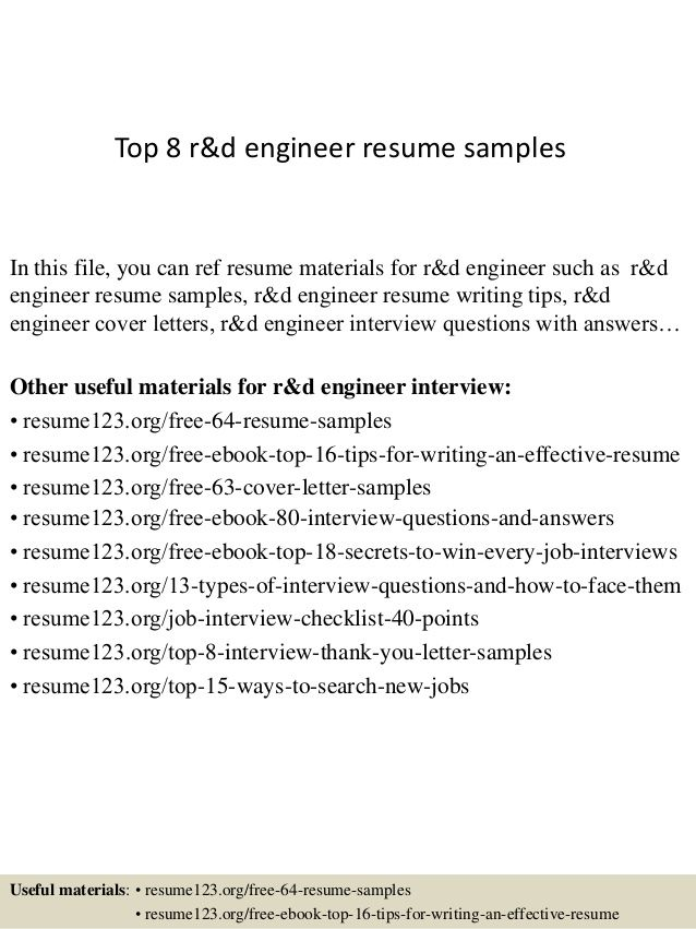Top Amp Engineer Resume Samplesin This File You Can Ref Template