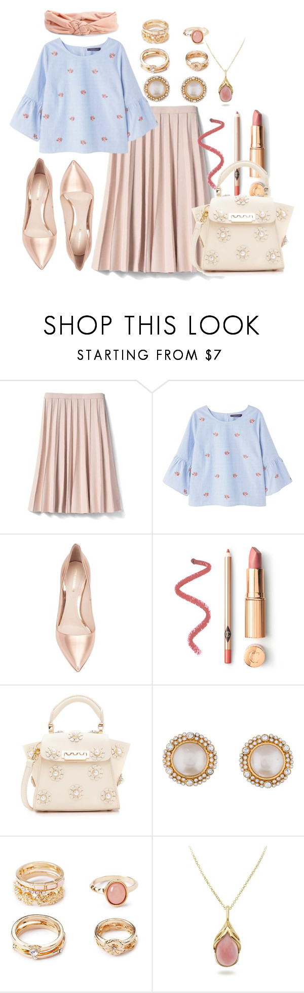 """""""Untitled #1063"""" by soosoali ❤ liked on Polyvore featuring Banana Republic, Violeta by Mango, Nicholas Kirkwood, ZAC Zac Posen, Chanel, Forever 21 and Aéropostale"""