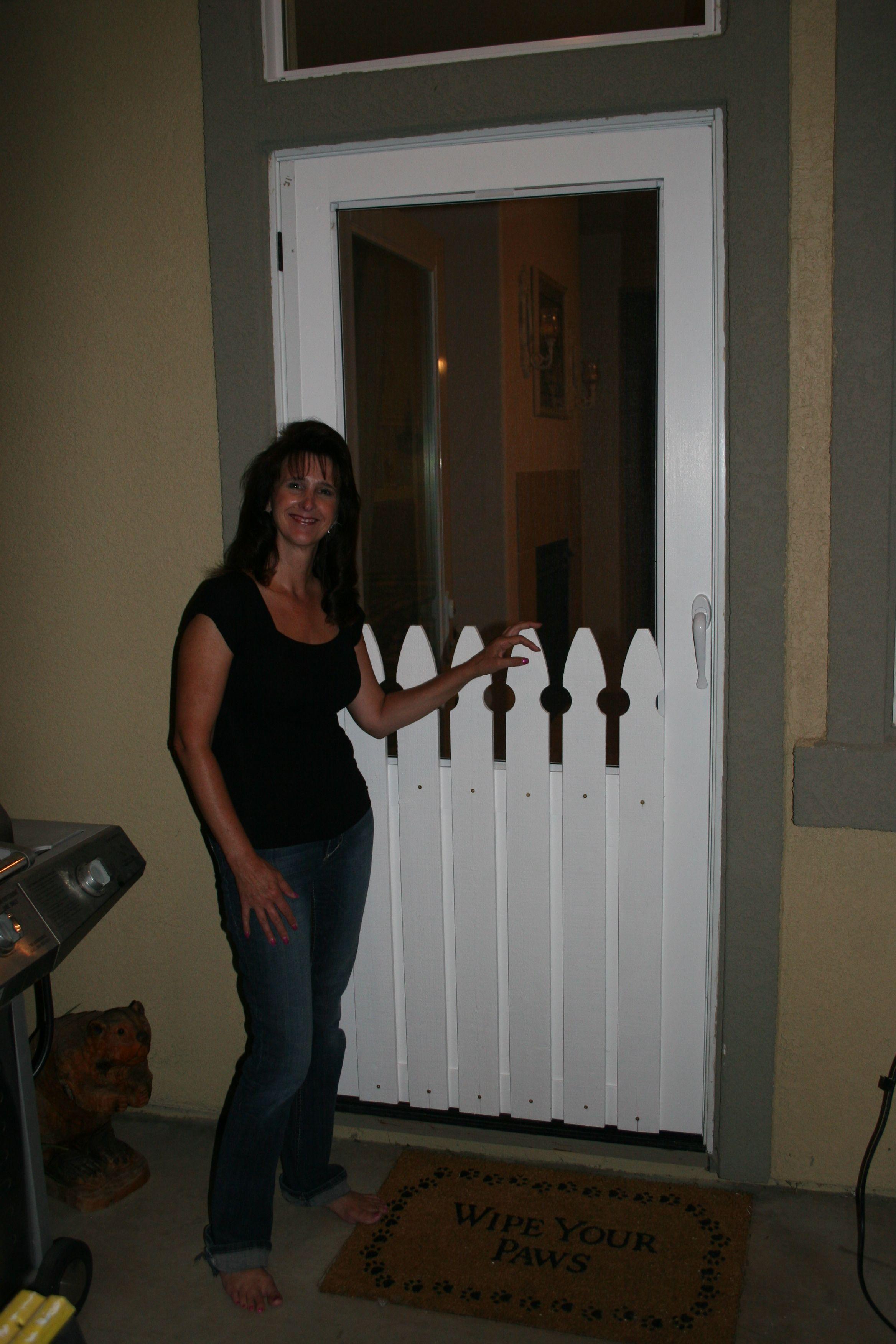 Custom screen door for an odd sized door custom screen