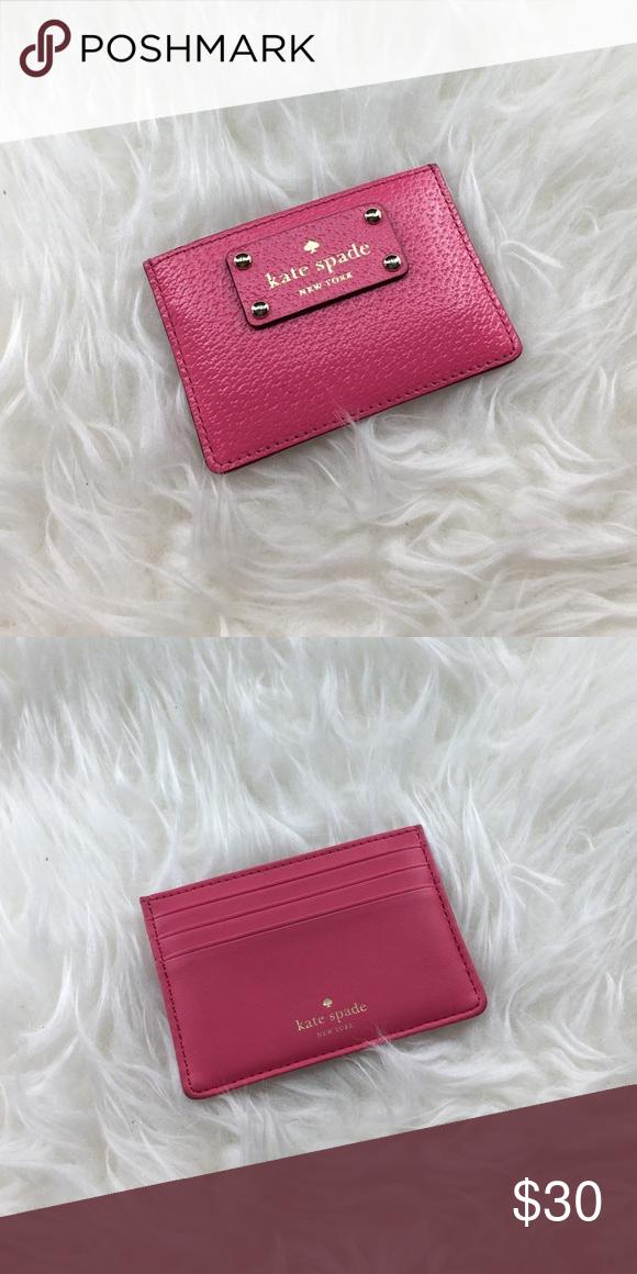 Kate Spade credit card holder Kate Spade credit card. 4 card slot. Color: Caberet Pink kate spade Accessories Key & Card Holders