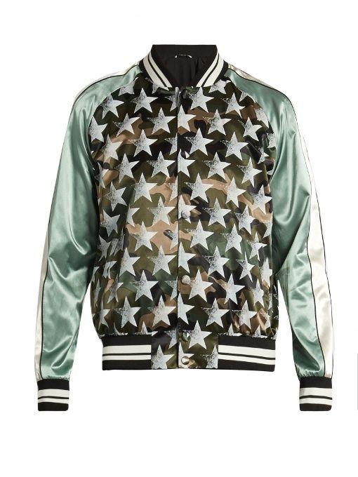 Valentino Souvenir Camouflage and stars-print jacket