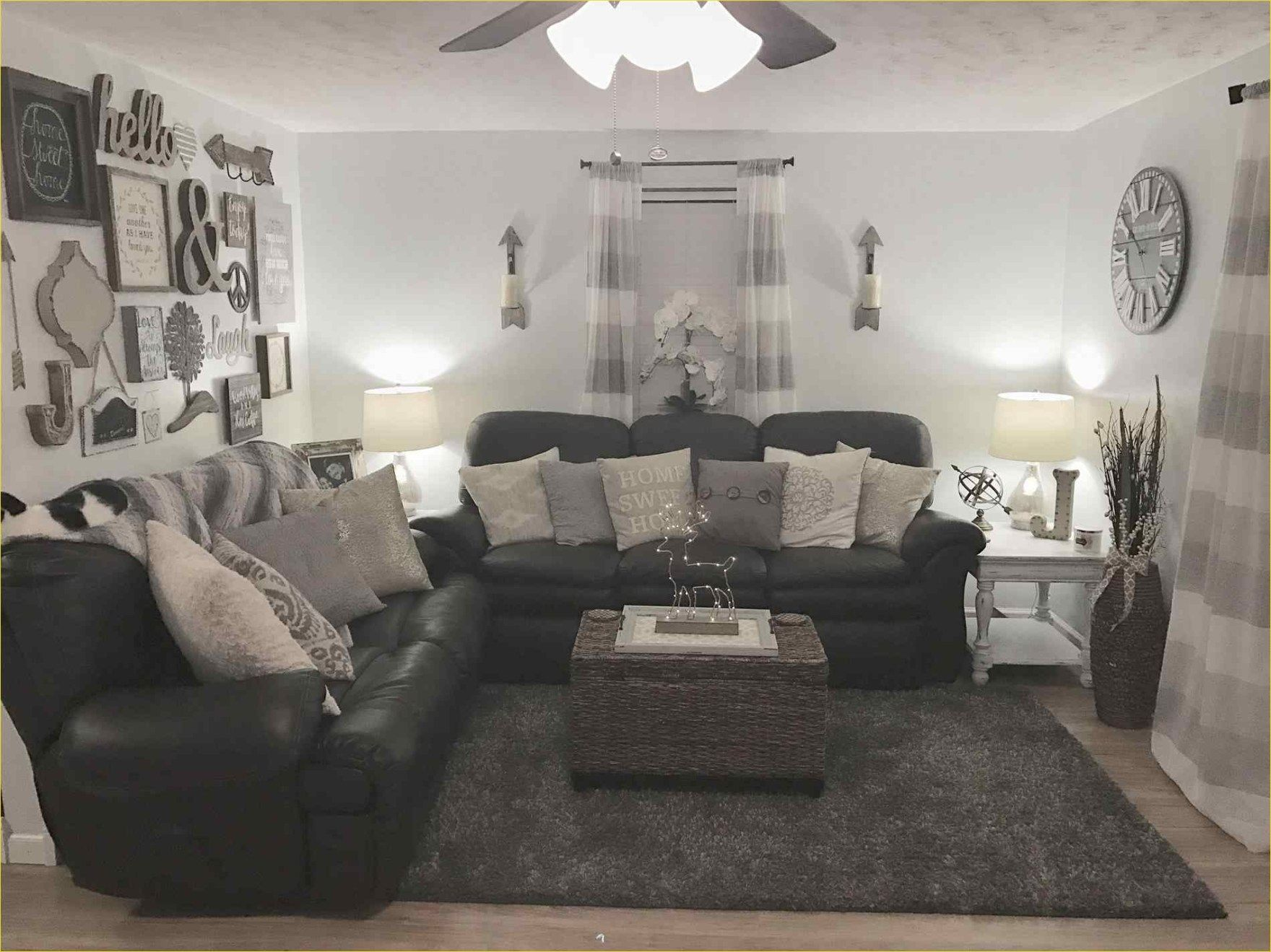 42 Fresh Modern Farmhouse Living Room With Leather Sofa Ideas Farm House Living Room Living Room Grey Living Room Leather