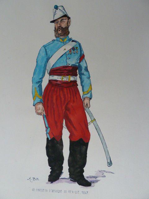 Cavalerie de la légion étrangère au Mexique   Mexician military ...