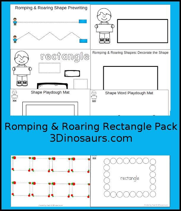 Free Romping & Roaring Rectangle Pack - 10 pages of activities ...