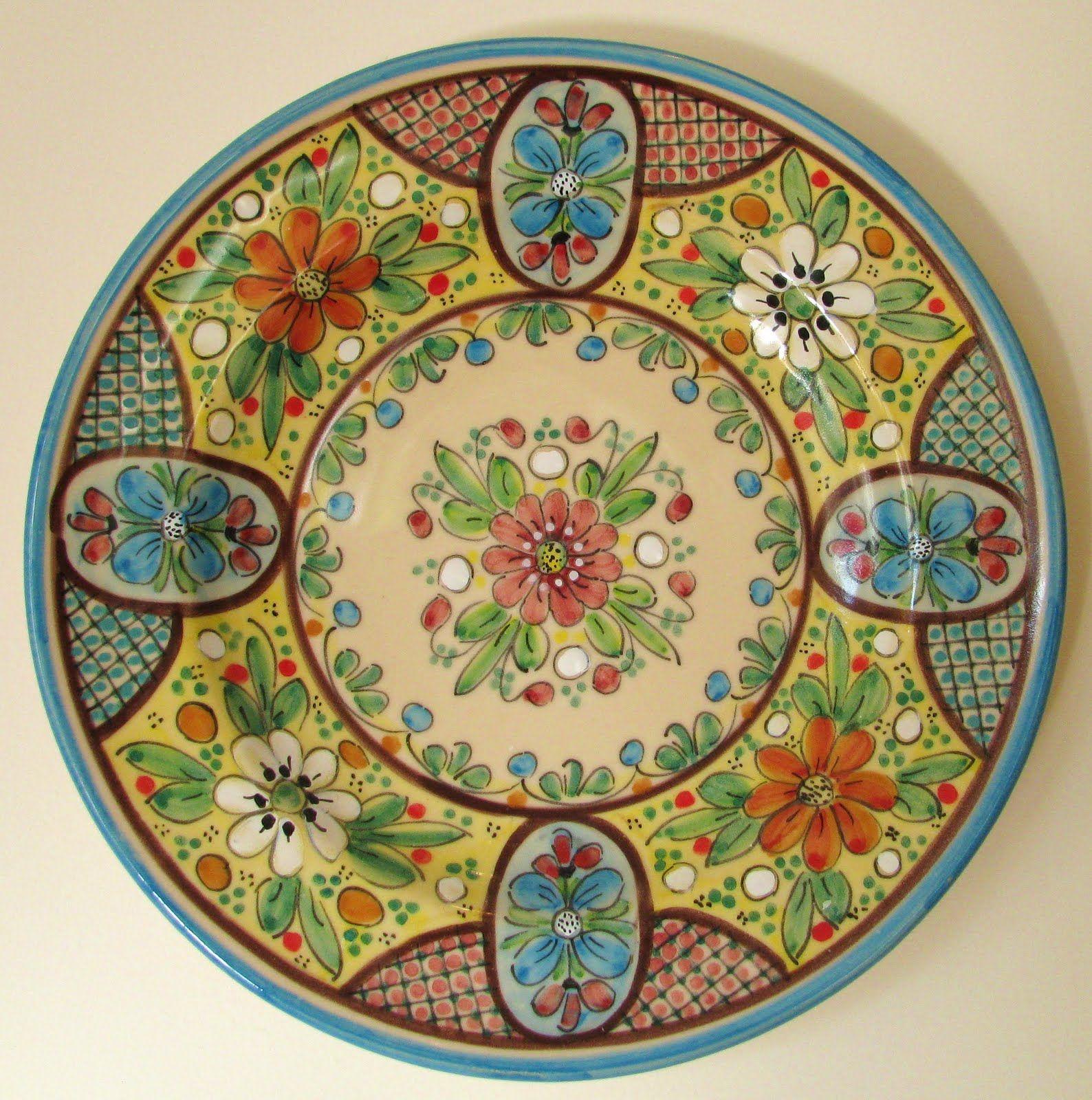 Spanish platter  sc 1 st  Pinterest & Spanish platter | Patterns | Pinterest | Spanish Pottery and ...