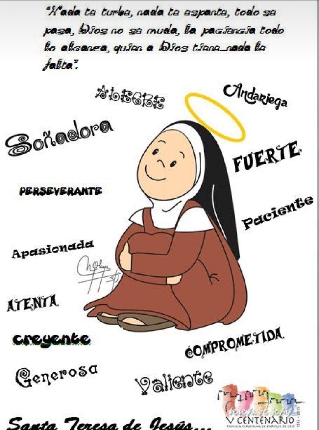 Pin De Mily Em Santa Teresa De Avila Teresa De Jesus Santa
