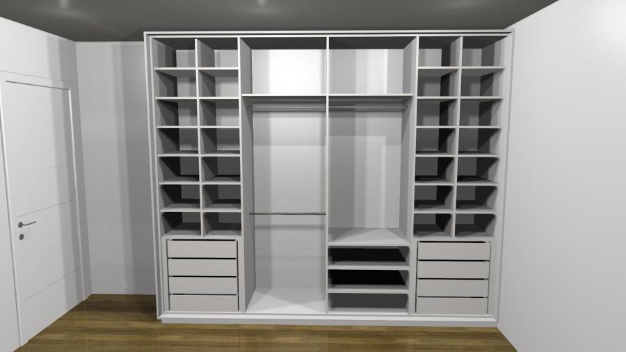 Fornecer portas de correr de vidro espelho e perfil de alum nio para um roupeiro de casal s o - Perfiles de aluminio para armarios ...