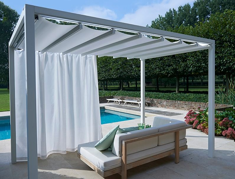 Sail roof cabana google search pool pinterest for Outdoor pool cabana