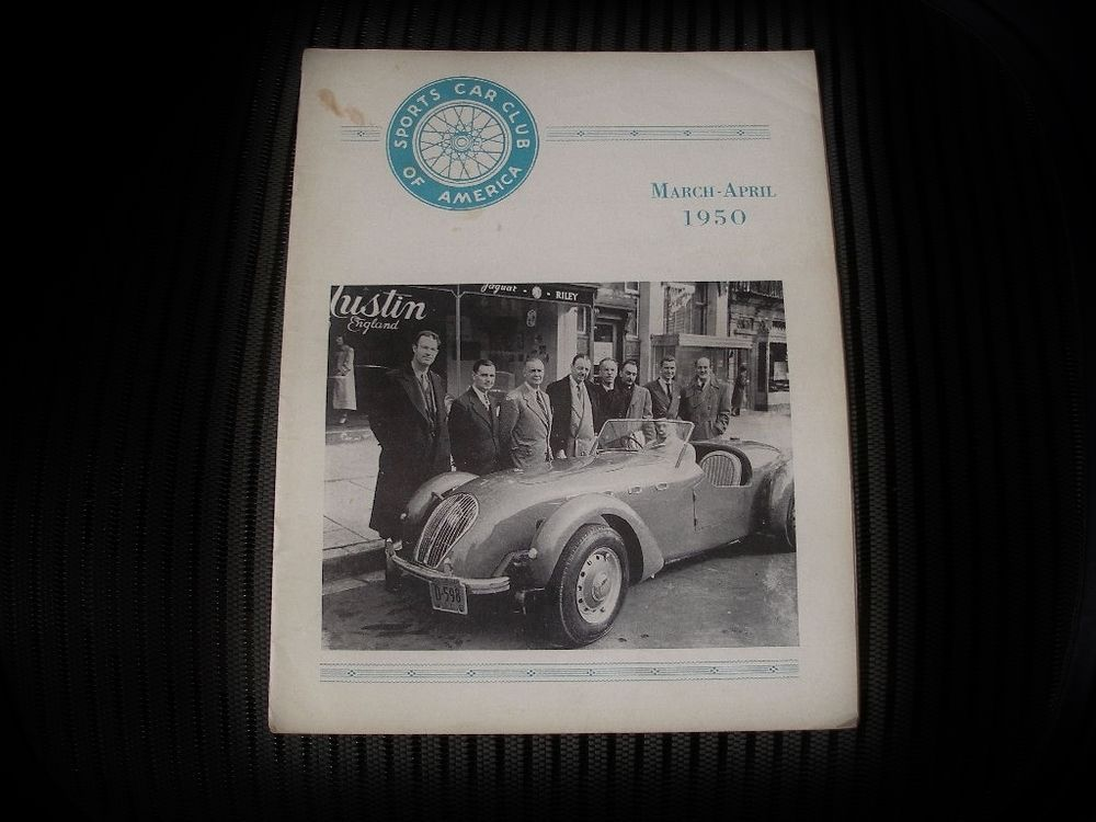 Rare MARCH APRIL 1950 SPORTS CAR Magazine SCCA HARD to FIND Early ...