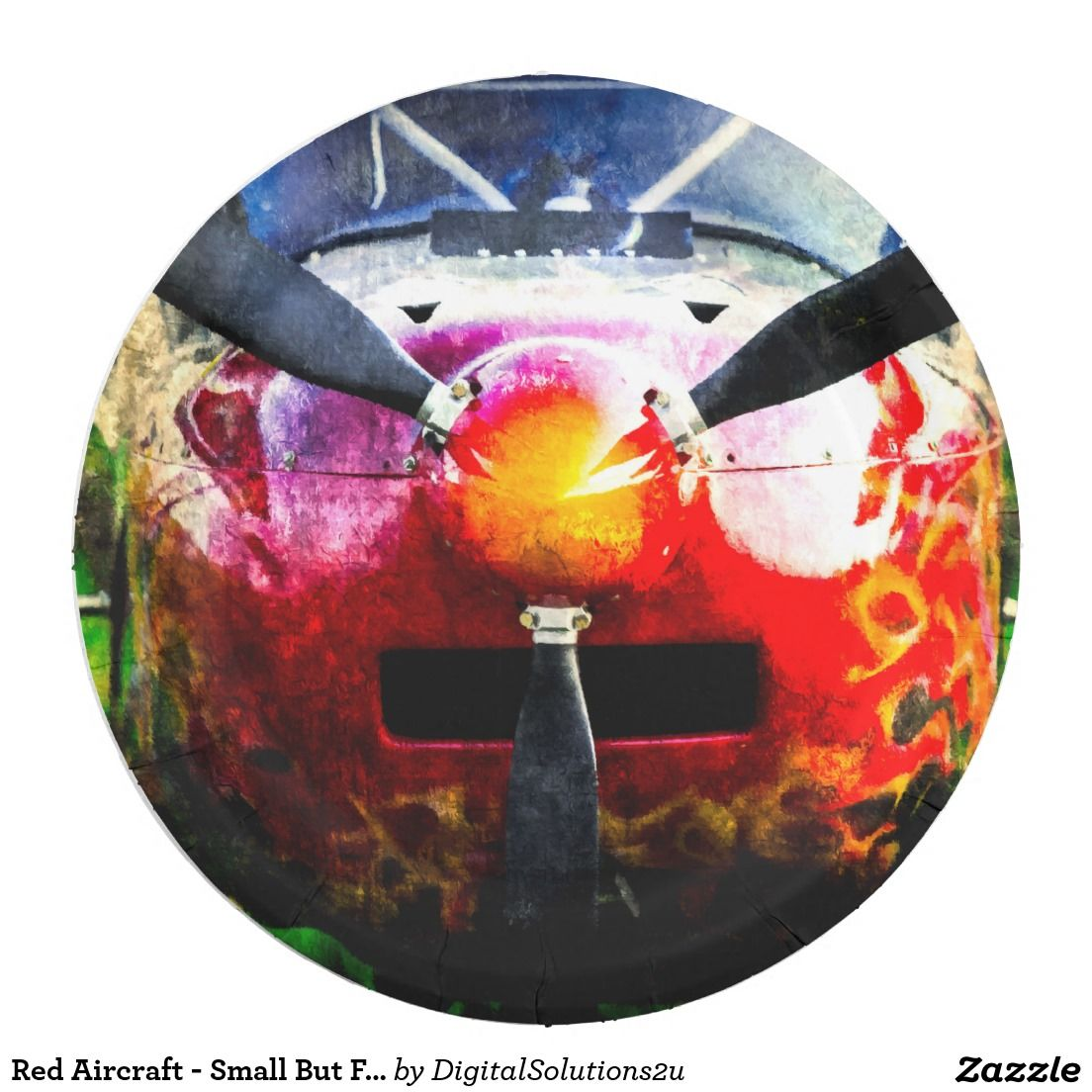 sc 1 st  Pinterest & Red Aircraft - Small But Fierce Paper Plate