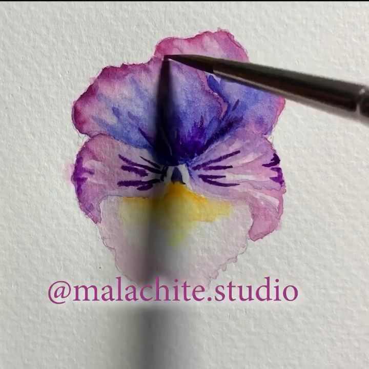 Hi there! my first short watercolor tutorial . Thanks for watching