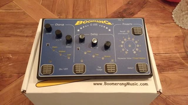 Boomerang E-155 Chorus and Delay | Guitar effects, pedal board ...