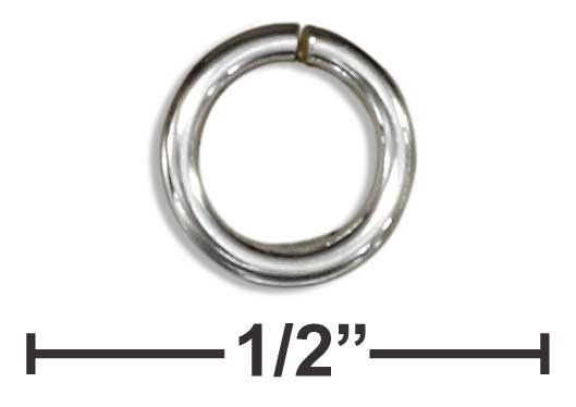 "STERLING SILVER ROUND JUMP RING .036"" X 6MM (25 PIECES)"