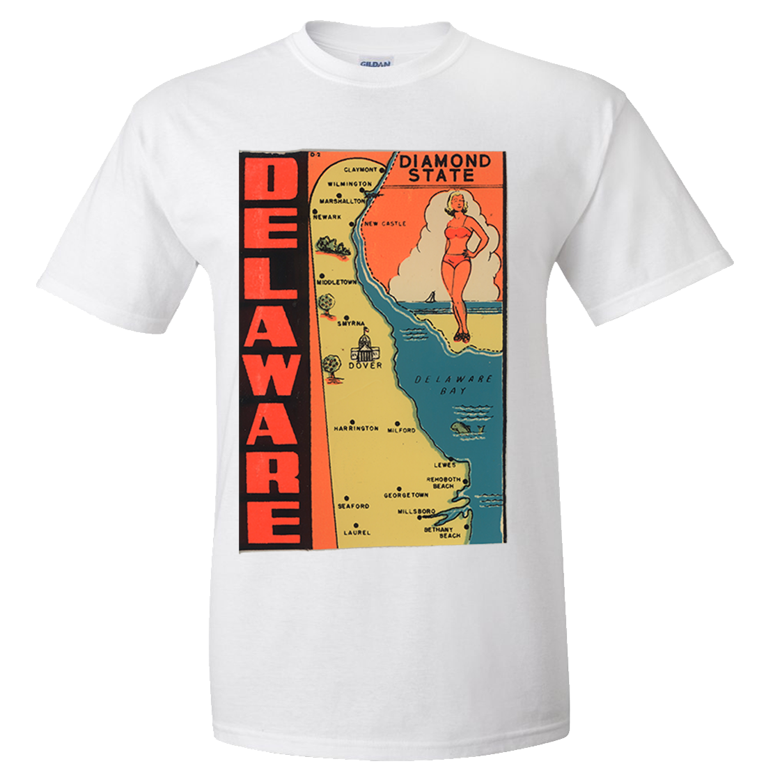 455c0493a Vintage State Sticker Delaware Asst Colors T-shirt/tee | Products ...
