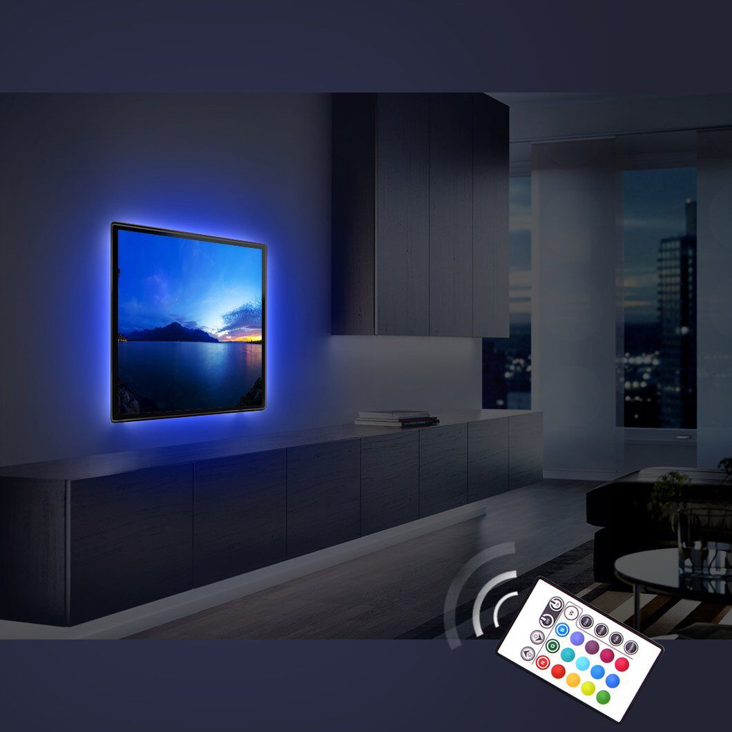 This Derlson Tv Backlight Kit Is Ideal For You To Customizing Your Home Theater Hdtv Our Plug And Play Bias Lighting Strip Lighting Home Theater Furniture