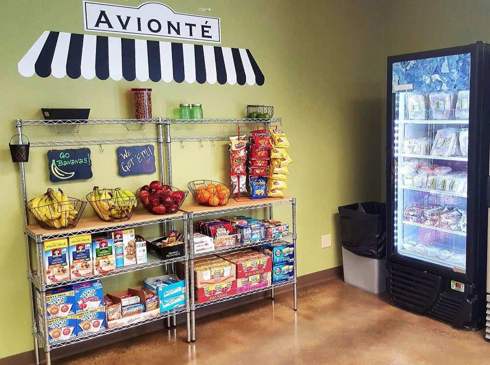 Breakroom - free snacks. - Avionte Staffing Software