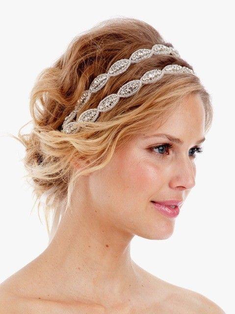 Poppy Double Crystal Headband Rhinestone By UntamedPetals Wedding Hair Idea