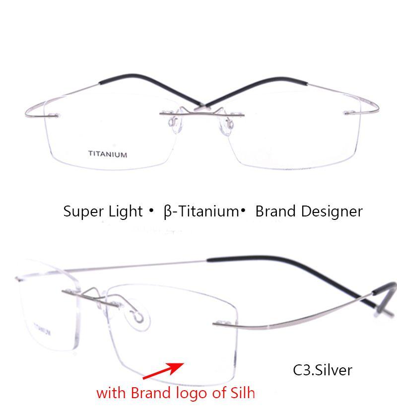 Silhouette Titanium Women Eyeglasses Frame Titanium Ivsta Men