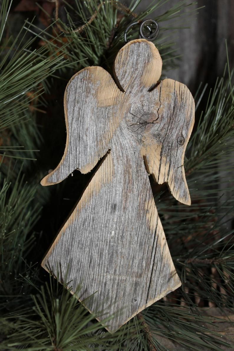 Primitive Wood Angel Rustic Wood Angel Farmhouse Angel Modern Etsy Wood Christmas Decorations Christmas Wood Crafts Primitive Wood Crafts