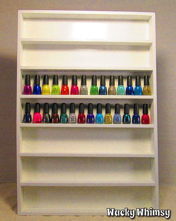 Wacky Whimsy nail polish rack - comes in 18 colors!