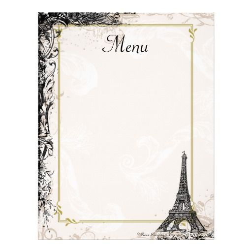 french menu template google search craft ideas menu template