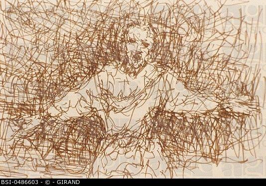SCHIZOPHRENIA<BR>Drawing by schizophrenic patient.