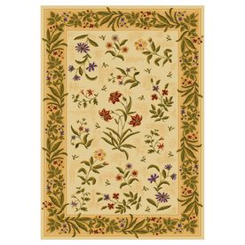 Shaw Living Summer Flowers Rectangular Yellow Floral Area Rug (Common: 4 Ft