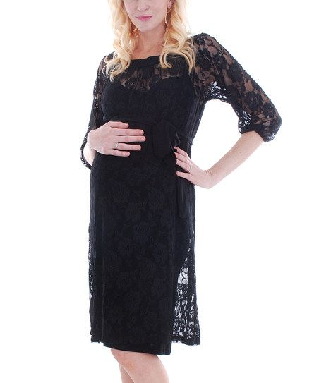 2b29a9a67dd15 Black Arianna Maternity Dress by Everly | Maternity | Maternity ...