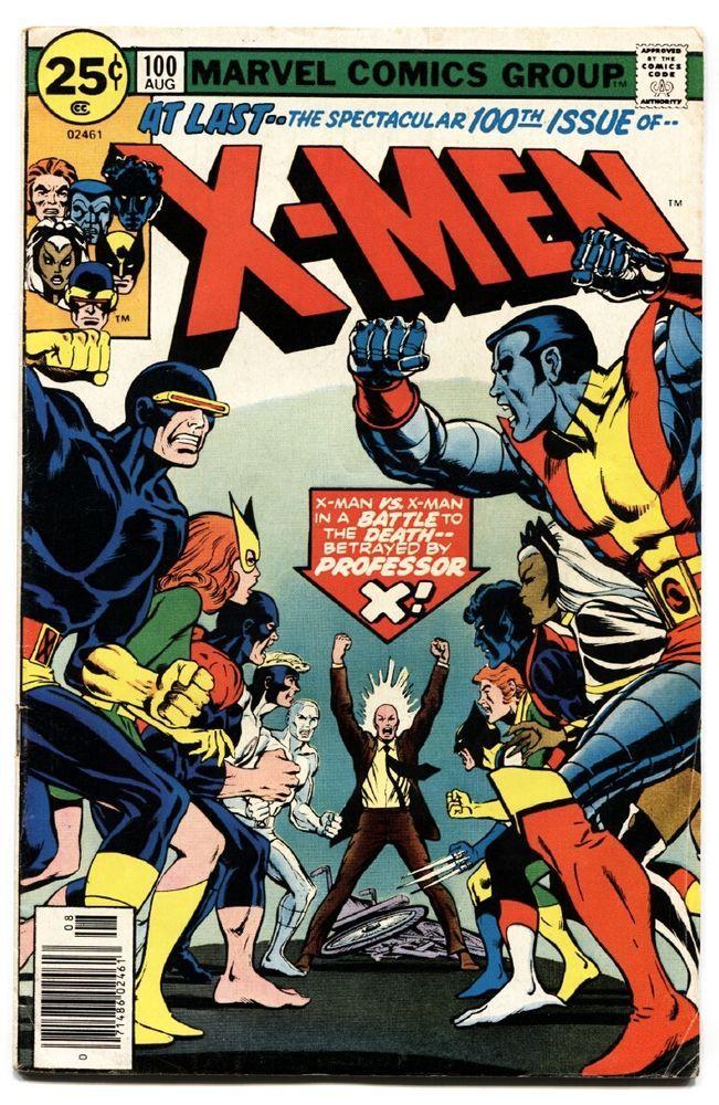 X Men 100 Key Issue Old Vs New Marvel Bronze Key Vintage Comics Comic Book Covers Comic Covers