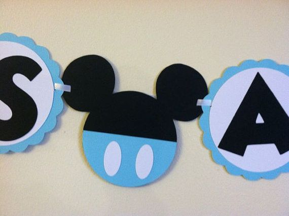 Mickey Mouse Baby Shower Banner   Its A Boy, Ready To Pop, Baby Boy
