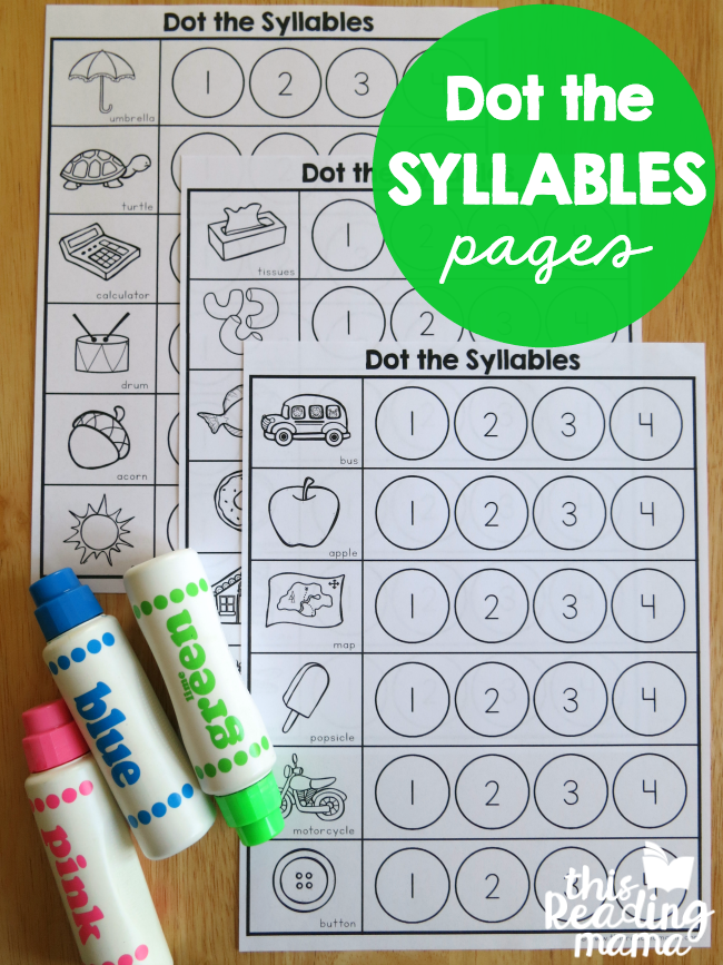 First Grade Reading Worksheets Free Printable Syllables Worksheets  Dot The Syllables  Syllable Worksheets  Maths Pyramid Worksheet with 2 Digit Subtraction With Regrouping Worksheets 2nd Grade Word Syllables Worksheet  Dot The Syllables  This Reading Mama Reflexive Pronoun Worksheets For 2nd Grade Word