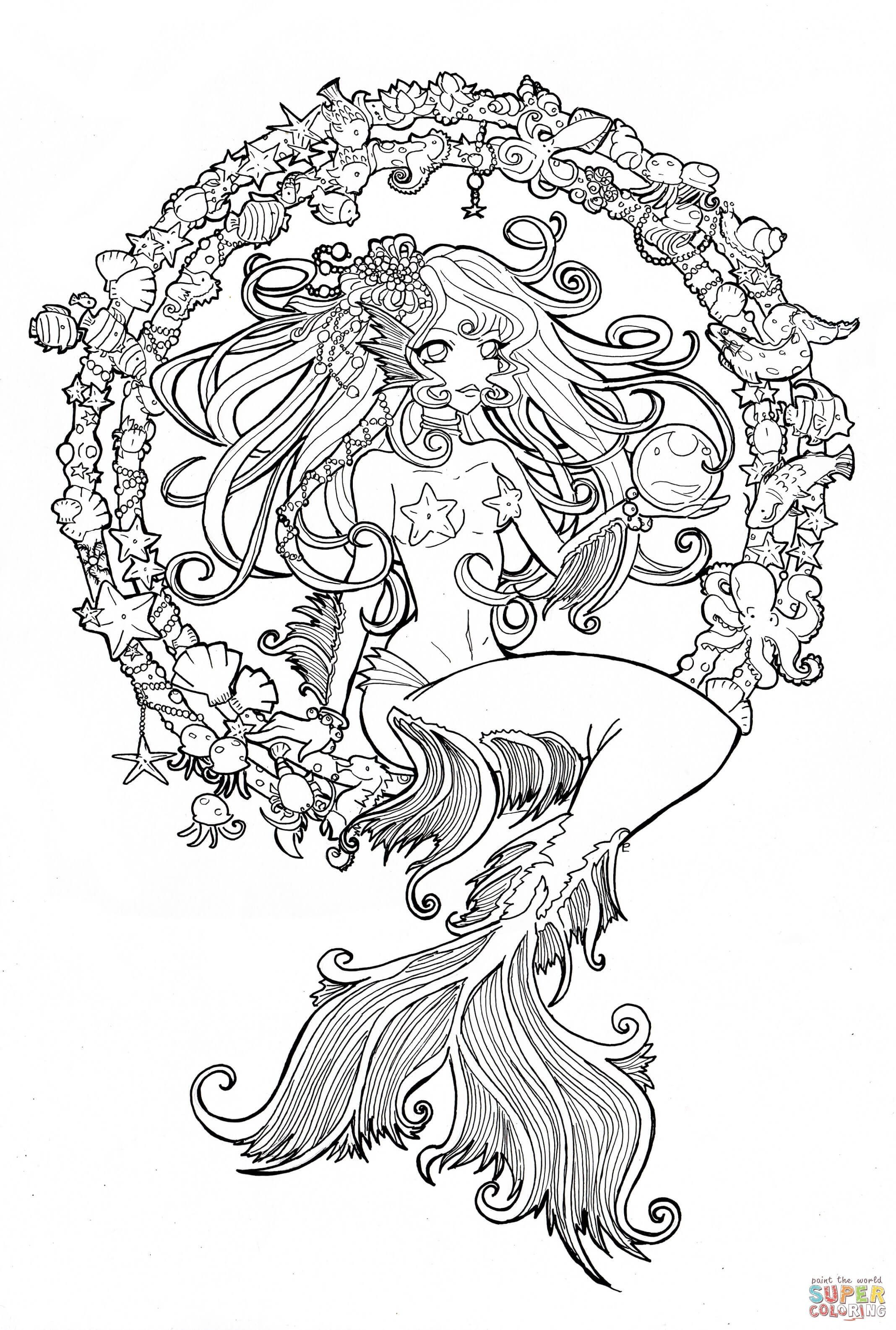 - Cordelia Jewel Of The Sea Coloring Page From Anime Girls Category