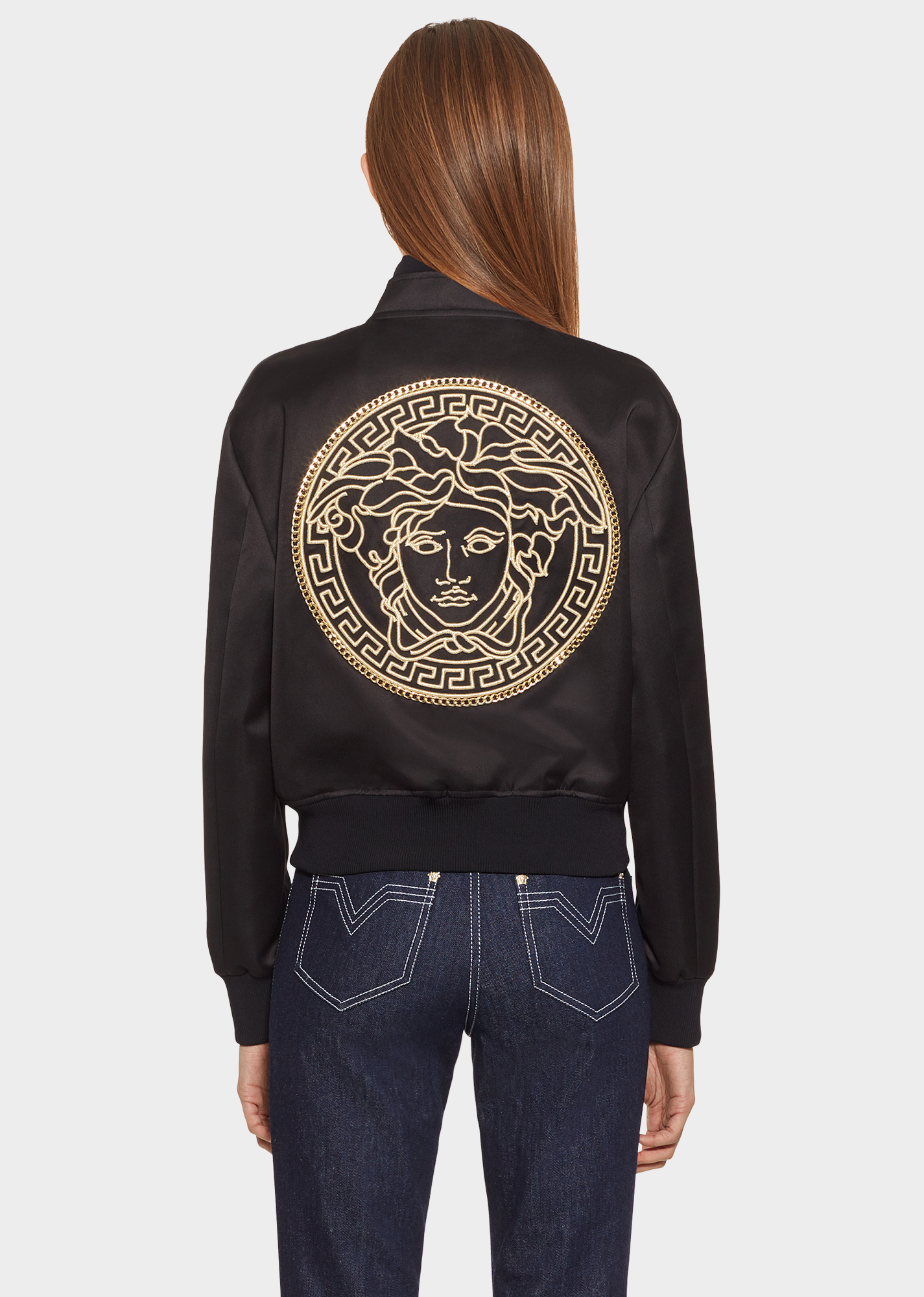 6cc673750b1 Embroidered Medusa Satin Blouson for Women | US Online Store in 2019 ...