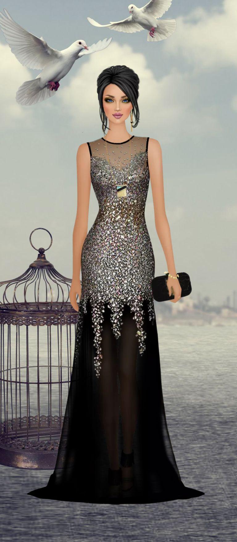 Jeux de mode robe de soiree