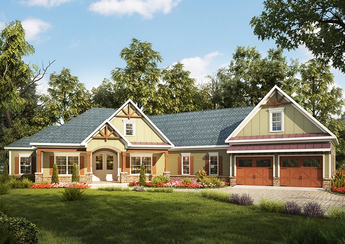 Plan 36031dk craftsman house plan with angled garage for Craftsman house plans with bonus room