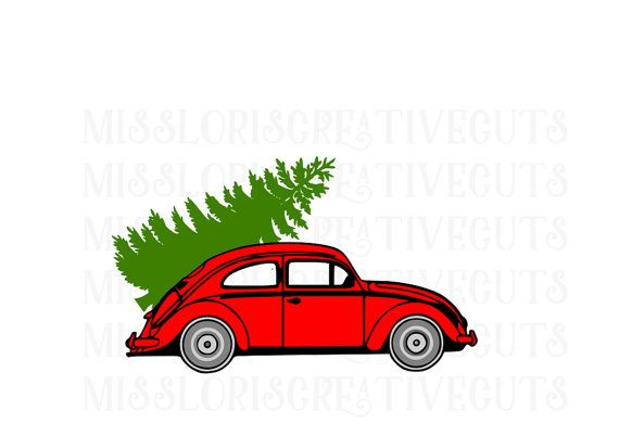 Volkswagen With Christmas Tree Svg Dfx Christmas Svg Red Truck Svg Christmas Tree Svg Volkswagen Svg Tree Svg Christmas Svg Svg