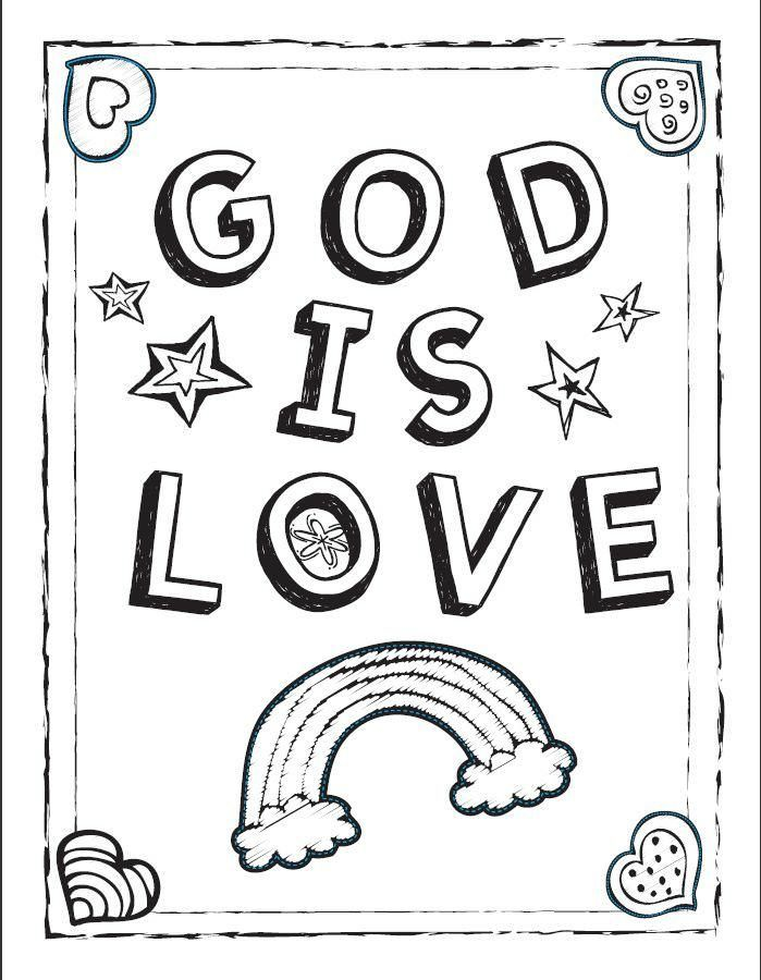 "God is Love!"" Coloring Sheet! 