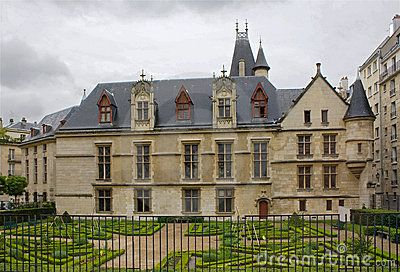 A medieval mansion in Paris. Originally owned by archbishops of Sens; also known as the residence of the queen Margaret of Valois; now it houses the Forney art library.