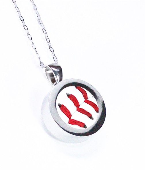 Baseball necklace sterling silver baseball pendant by qacreate baseball necklace sterling silver baseball pendant by qacreate 6000 aloadofball Gallery