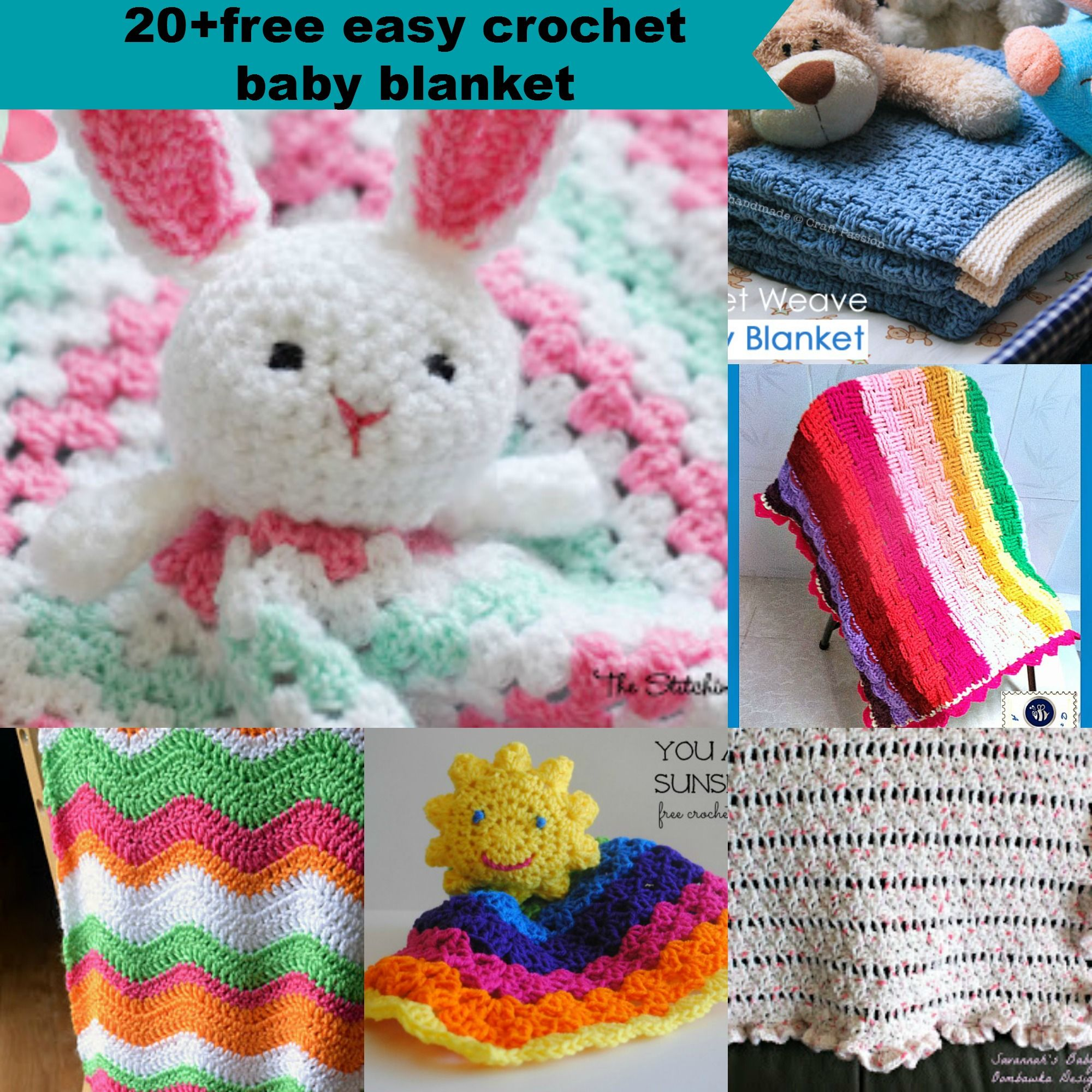 20+free crochet easy baby blanket pattern | Baby Keith | Pinterest ...